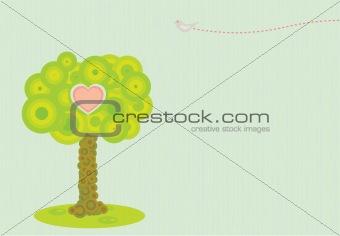 Retro Styled Vector Tree