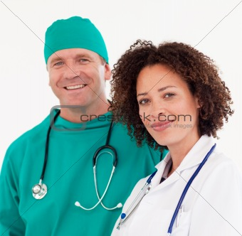 Group of Doctors working with each other