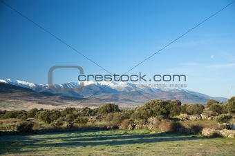 gredos snow mountains