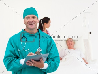 Doctors working in a Hospital ward 