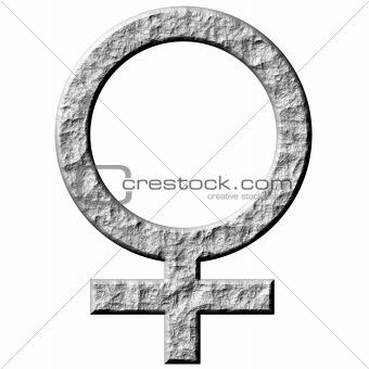 3D Stone Female Symbol
