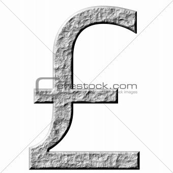 3D Stone Pound Symbol
