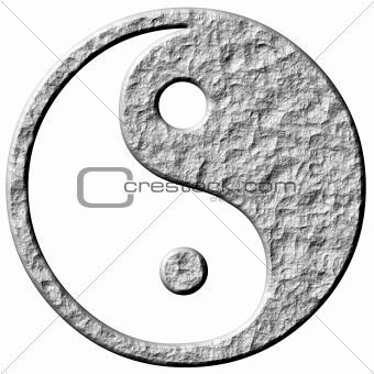 3D Stone Tao Symbol
