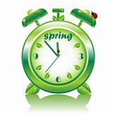 Springtime, vector alarm clock
