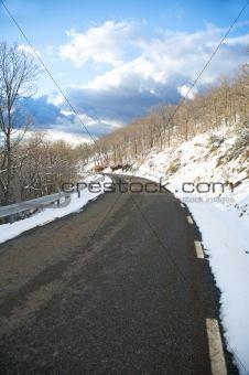 clean snow road