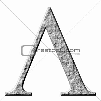 3D Stone Greek Letter Lambda