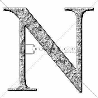 3D Stone Greek Letter Ny