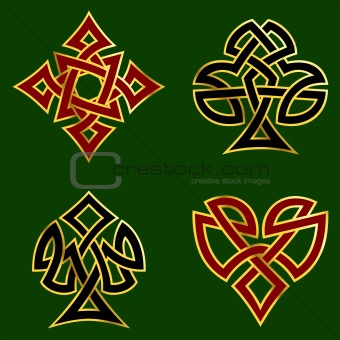 Knotwork card suits