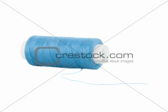 bluer threads over the white background