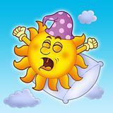 Waking up Sun on blue sky