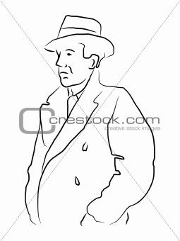 Man in trench coat