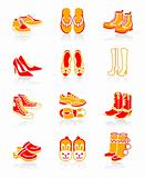 Footwear icons | JUICY series