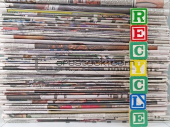 Old Newspapers and Recycle