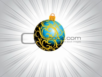 blue artistic design christmas ball