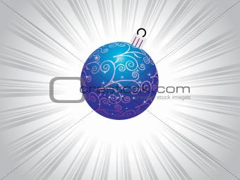 blue bulb with swirl and star