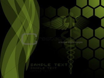 green abstract design wave background