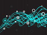 wave halftone background, vector illustration