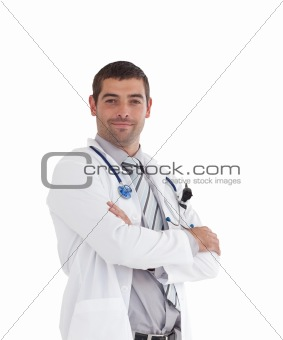Doctor isolated on white