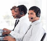 Team of People working in a call centre