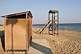 Lifeguard tower and cabana in Greece