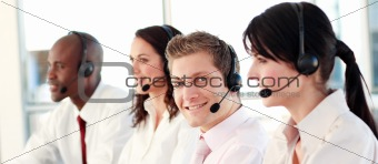 Potrait of a business team