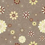 Retro/vintage/modern floral seamless background