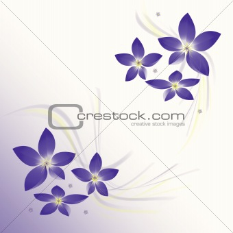 Background with flower