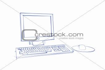 Sketch of computer