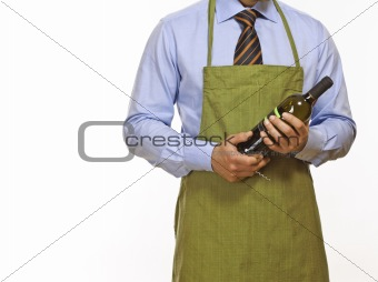 business man ready for cooking