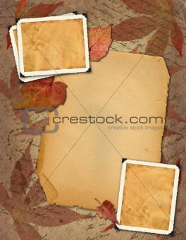 old paper with photo-frameworks
