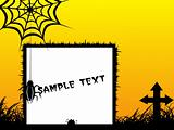 illustration, halloween background series5 with place for text, design2