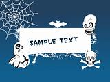 illustration, halloween background series5 with place for text, design5