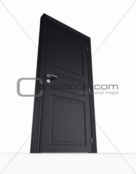 Closed black door