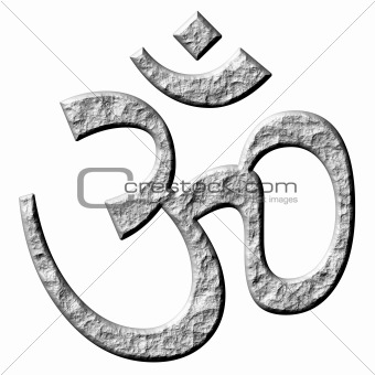 3D Stone Hinduism Symbol