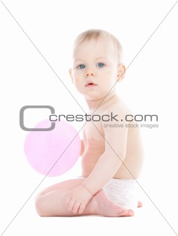 Baby with a balloon