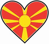 Macedonia Heart Flag