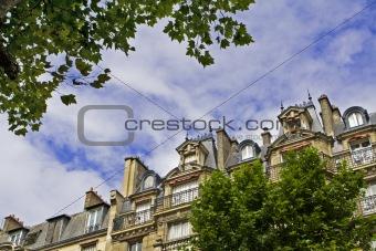Old Paris buildings