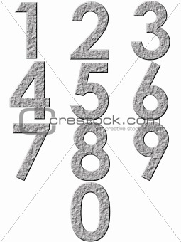 3D Stone Numbers