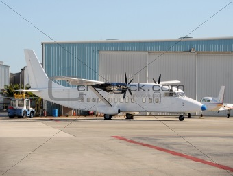 Old turboprop airplane