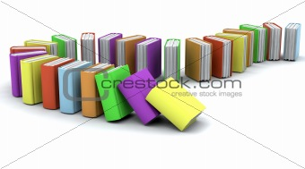 3d of a stack of books