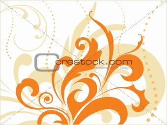 artistic orange design illutration