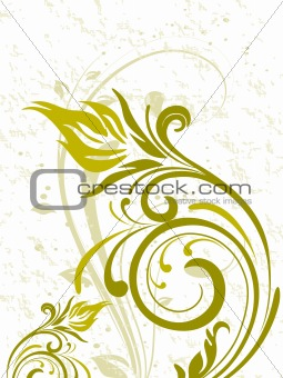artistic floral design background