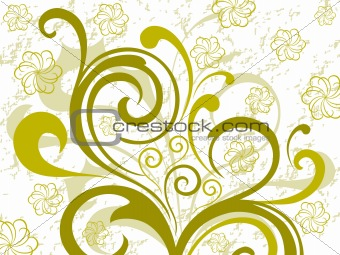 green floral design background