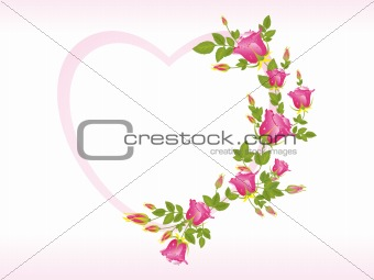 abstract pink rose pattern frames