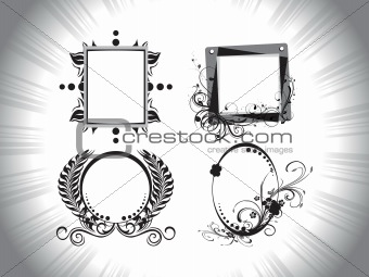 abstract retro frame background
