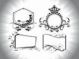 retro pattern ornamental frames