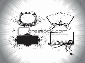 artistic pattern frames illustration