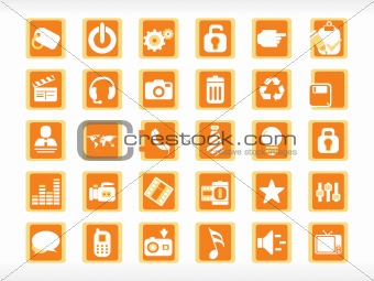 abstract halloween icons set series, illustration