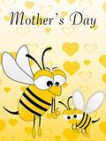honeybee with mother day background