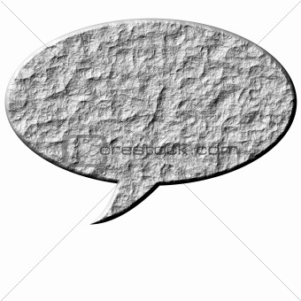 3D Stone Speech Bubble